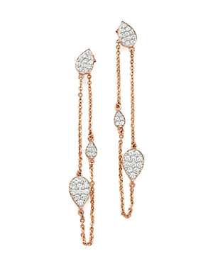 Diamond Front-Back Chain Drop Earrings in 14K Rose Gold, .60 ct. t.w. - 100% Exclusive