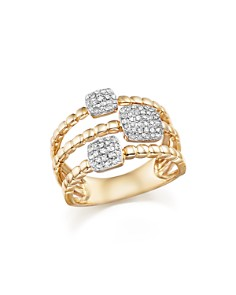 Bloomingdale's - Diamond Pavé Triple Row Beaded Band in 14K Yellow Gold, .25 ct. t.w.- 100% Exclusive