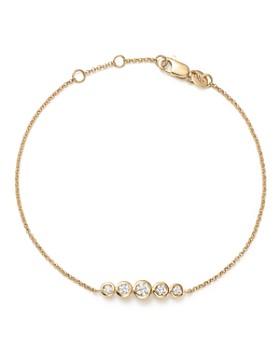 54f6d2743a KC Designs - 14K Yellow Gold Diamond Bezel Bracelet - 100% Exclusive ...
