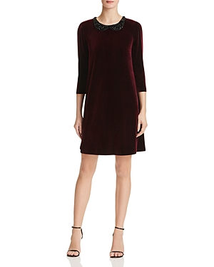 Betsey Johnson Embellished Velvet Dress
