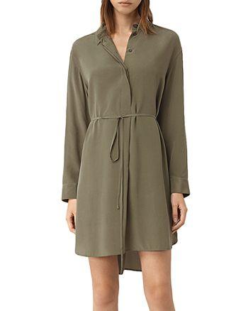 563f9946c8f ALLSAINTS - Alex Silk Shirt Dress