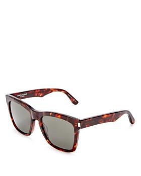 Saint Laurent - Women's Havana Devon Square Sunglasses, 58mm