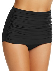 Miraclesuit - Solid Norma Jean Ruched Bikini Bottom