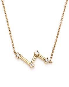 """Dana Rebecca Designs - 14K Yellow Gold Jemma Morgan Zigzag Diamond Necklace, 18"""""""