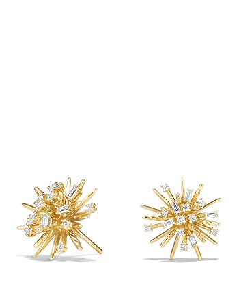David Yurman - Supernova Stud Earrings with Diamonds in 18K Gold