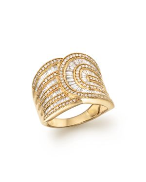 Diamond Round and Baguette Band in 14K Yellow Gold, 1.30 ct. t.w.