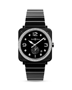 Bell & Ross - BR S Black Ceramic Diamond Watch, 39mm