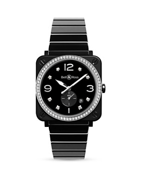 Bell & Ross - BR S Black Ceramic Diamond Watch, 39mm