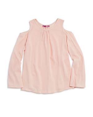 Aqua Girls Cold Shoulder Gauze Top Sizes Sxl  100 Exclusive