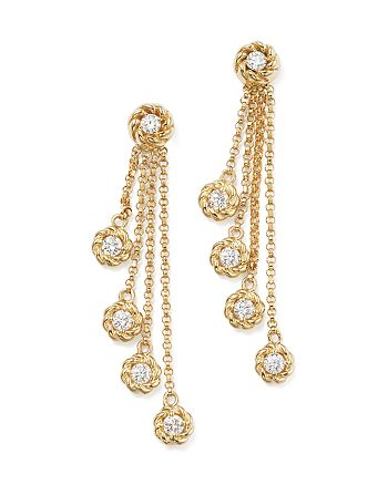 Roberto Coin - 18K Yellow Gold New Barocco Diamond Drop Earrings