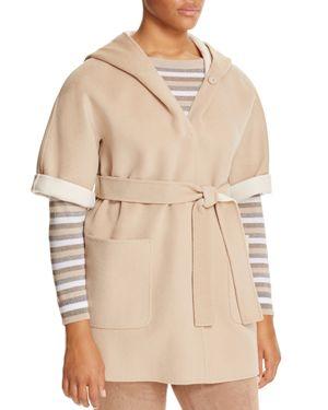 Marina Rinaldi Nadia Hooded Elbow Sleeve Coat