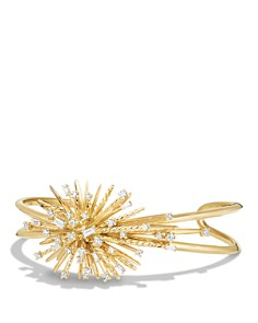 David Yurman - Supernova Cuff Bracelet with Diamonds in 18K Gold