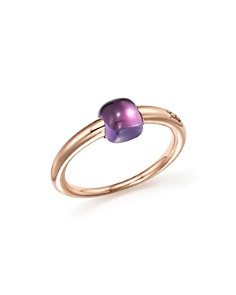 Pomellato - M'Ama Non M'Ama Ring with Amethyst in 18K Rose Gold