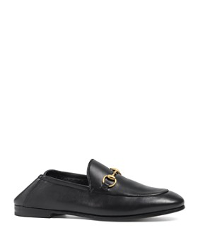 Gucci - Women's Leather Horsebit Loafers
