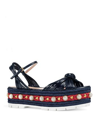 0b110b4cf75e Gucci - Women s Embellished Barbette Platform Sandals