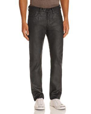 Prps Goods & Co. Senator Coated Denim Slim Fit Jeans in Black