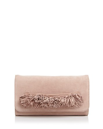 $OLLIE & B Fringe Suede Clutch - 100% Exclusive - Bloomingdale's