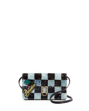 Marc Jacobs Denim Patchwork Wallet Crossbody 2411934