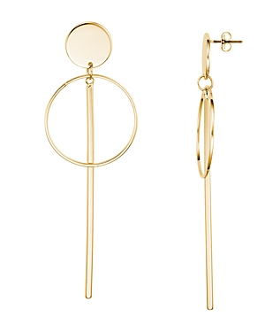 Argento Vivo Disc, Circle and Bar Drop Earrings