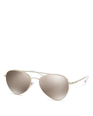 Prada Ps 50SS Aviator Sunglasses, 57mm