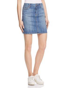 Paige Elaina Denim Skirt in Dorian