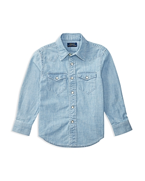 Ralph Lauren Childrenswear Boys' Chambray Shirt - Little Kid, Big Kid