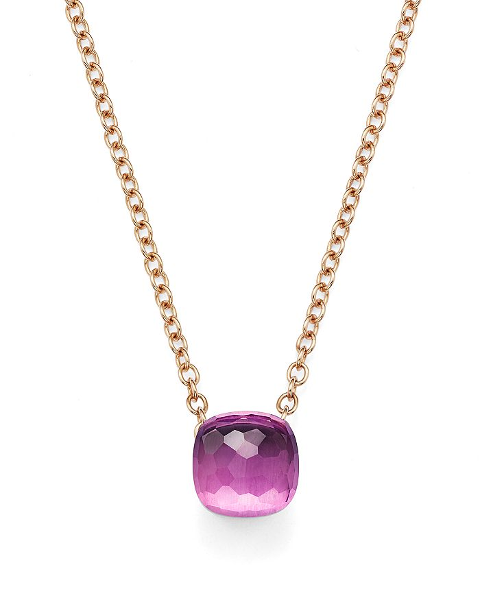 Pomellato - Nudo Necklace with Amethyst in 18K Rose and White Gold