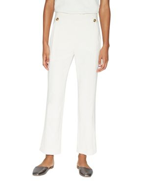 Halston Heritage Crop Flare Sailor Pants