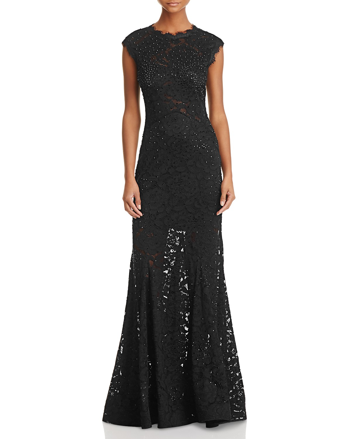 AQUA Embellished Lace Gown - 100% Exclusive | Bloomingdale\'s