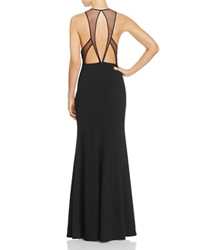 JS Collections - Illusion Cutout Back Gown