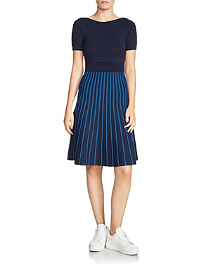 Maje Royaume Stripe Knit Dress