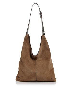 Halston Heritage Tina North/South Suede Shoulder Bag