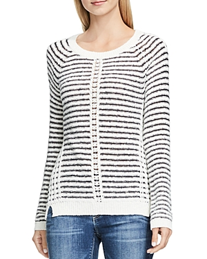 Two by Vince Camuto Textured Stripe Sweater