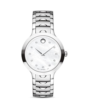 Movado - Luno Watch with Diamonds, 32mm