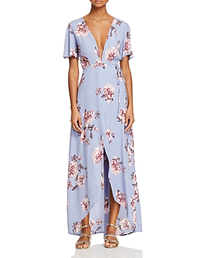 Astr Selma Floral Wrap Maxi Dress