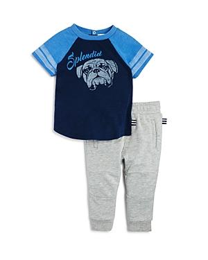 Splendid Infant Boys Bulldog ColorBlock Tee  Jogger Set  Sizes 361824 Months