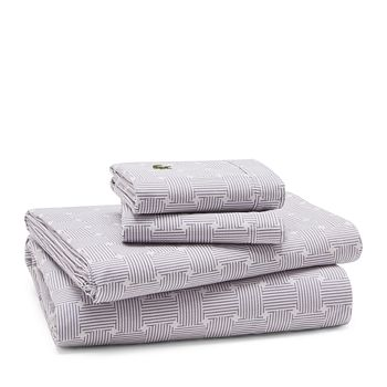 Lacoste - Geo Compass Percale Sheet Set, Queen