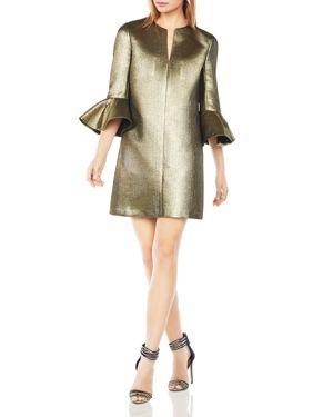 Bcbgmaxazria Judy Metallic Bell Sleeve Shift Dress 1829736