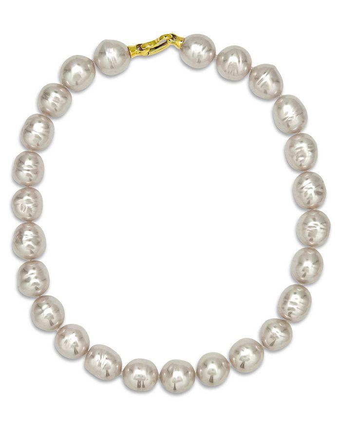"Majorica - Baroque Simulated Pearl Collar Necklace, 17"""