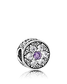 PANDORA - Moments Collection Sterling Silver & Cubic Zirconia Forget Me Not Charm