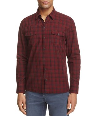 Paige Everett Plaid Regular Fit Button-Down Shirt