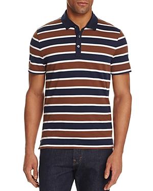 michael kors male michael kors towel stripe slim fit polo shirt