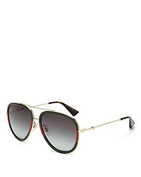 Gucci - Women's Brow Bar Aviator Aviator Sunglasses, 57mm