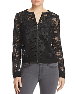 Three Dots Abstract Netted Lace Jacket