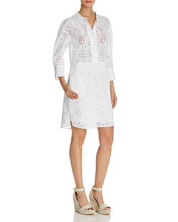 Burberry Daniela Eyelet Shirt Dress   Bloomingdale s 0e194139a3e