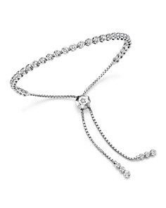 Bloomingdale's - Diamond Bezel Tennis Bolo Bracelet in 14K White Gold, 1.20 ct. t.w. - 100% Exclusive