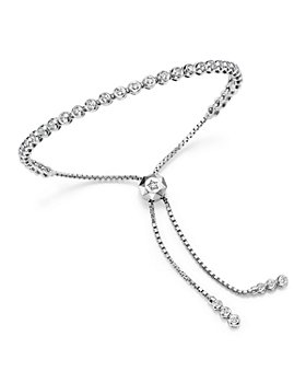 Bloomingdale's - Diamond Bezel Tennis Bolo Bracelet in 14K White Gold, 1.20 ct. t.w.- 100% Exclusive