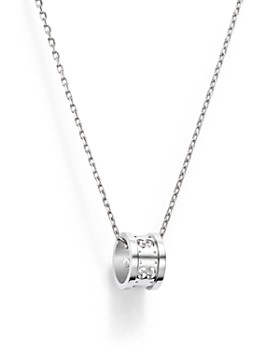 Gucci - 18K White Gold Icon Twirl Necklace, 16.5""