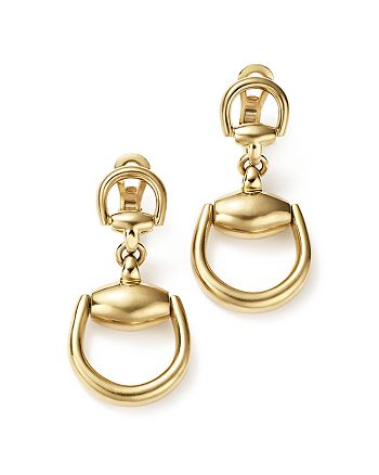 Gucci - 18K Yellow Gold Horsebit Small Earrings