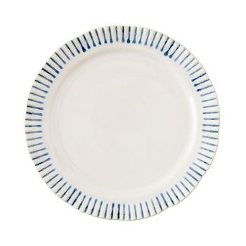 Juliska - Sitio Stripe Indigo Dessert/Salad Plate